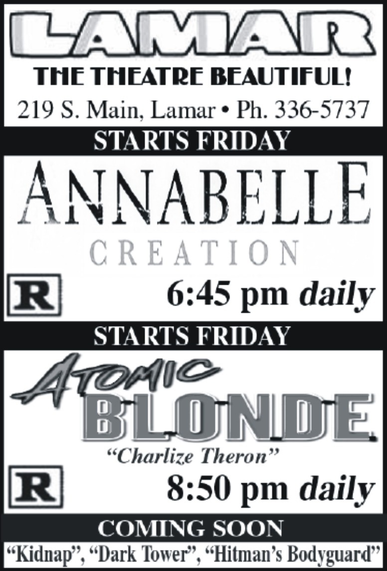 Lamar Theatre Ad - September 1, 2017
