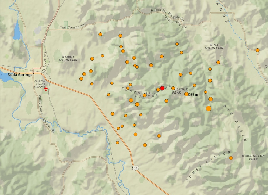 Minor earthquakes shake eastern Idaho, northern Utah