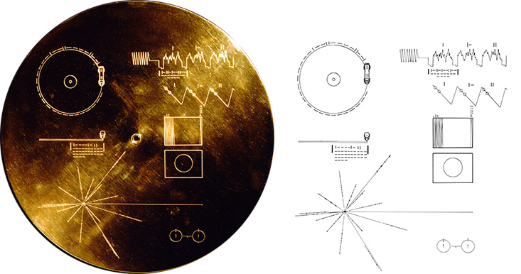 PICT - Voyager Spacecraft Gold Record Diagram