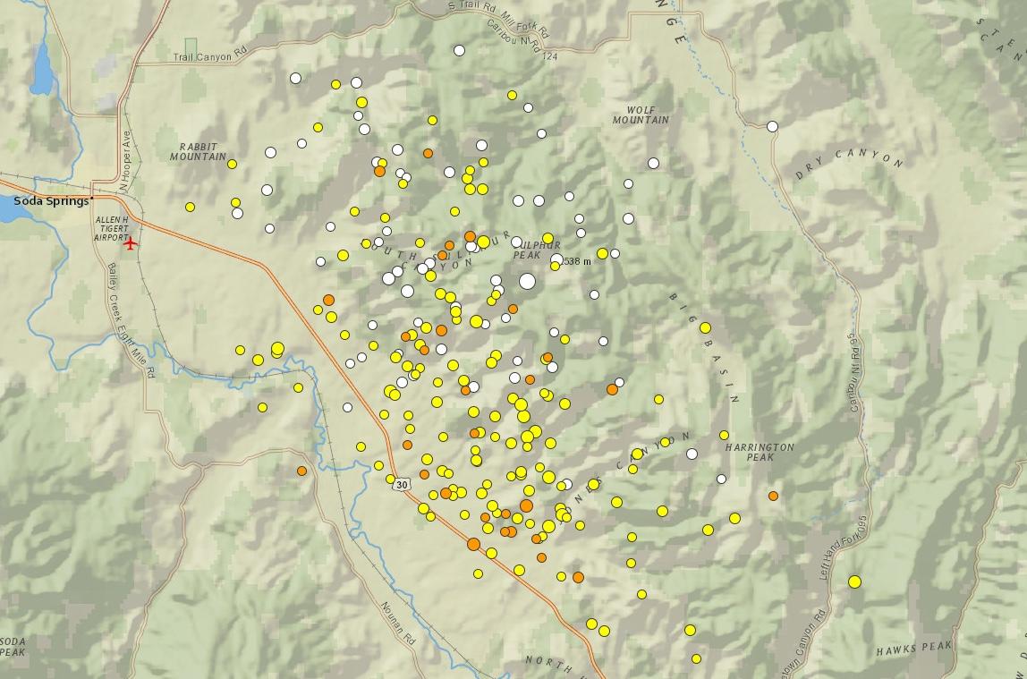 2017-09-10 MAP Idaho Earthquakes