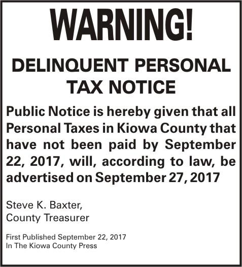 LEGAL - Delinquent Taxes 2016