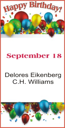 Happy Birthday to Eikenberg Williams