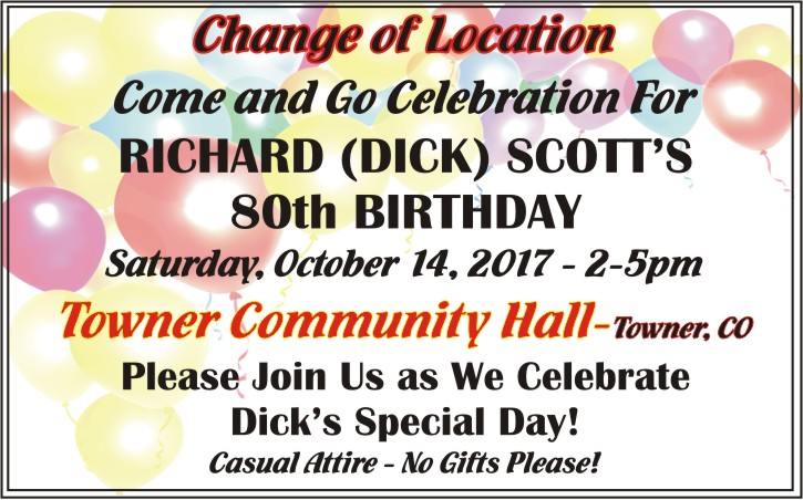 Help Dick Scott Celebrate 80 Years