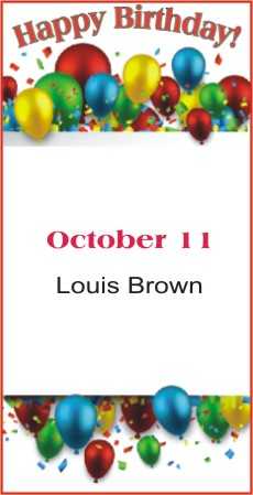 Happy Birthday to Brown