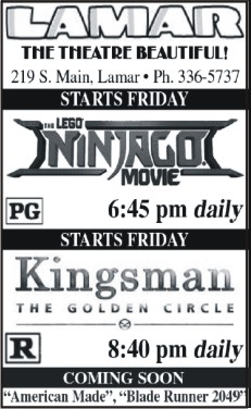 Lamar Theatre Ad - October 13, 2017