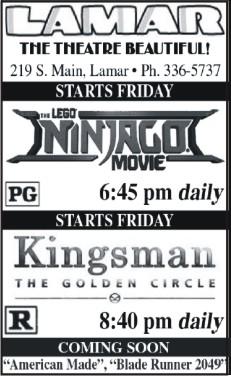 Lamar Theatre Ad - October 13, 2017