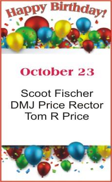 Happy Birthday to Fischer Rector Price