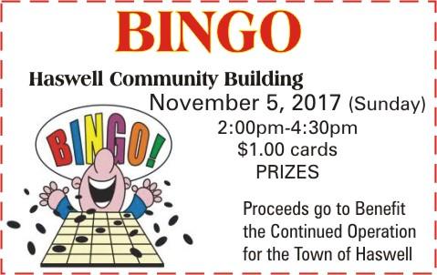 ADV - Town of Haswell Bingo