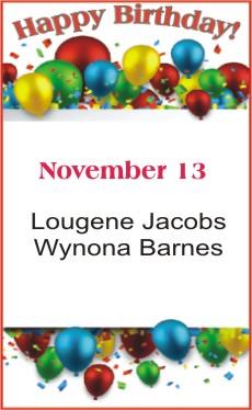 Happy Birthday to Jacobs Barnes