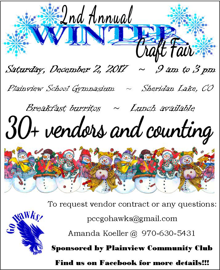 ADV - Plainview Community Club Winter Craft Fair