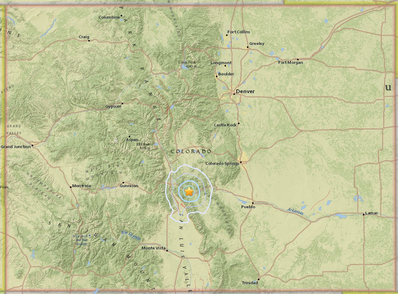MAP - Earthquake - Salida - November 30, 2017