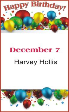 Happy Birthday to Hollis