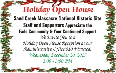 ADV - Holiday Open House at Sand Creek Massacre National Historic Site
