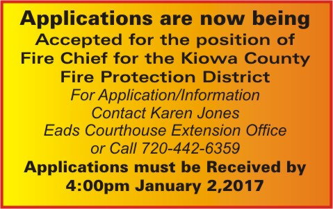 ADV - Help Wanted - Kiowa County Fire Protection District