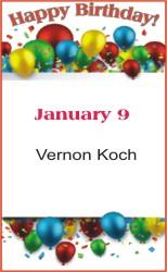 Happy Birthday to Koch
