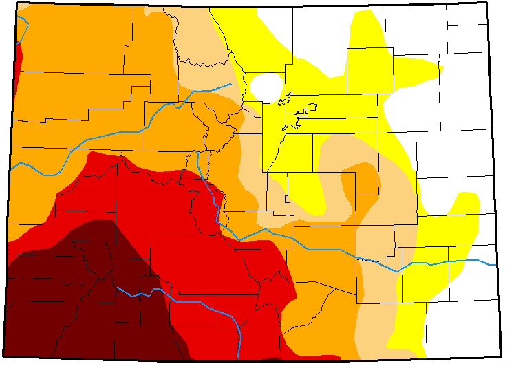 MAP Colorado Drought Conditions - January 1, 2019