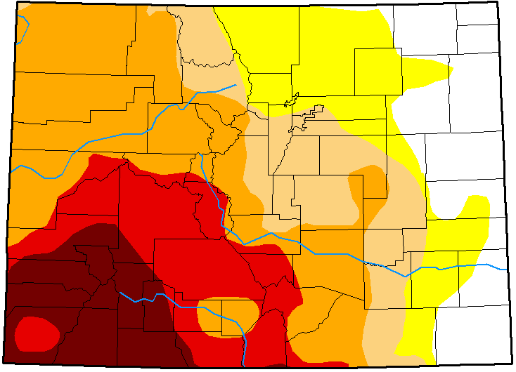 MAP Colorado Drought Conditions - January 8, 2019