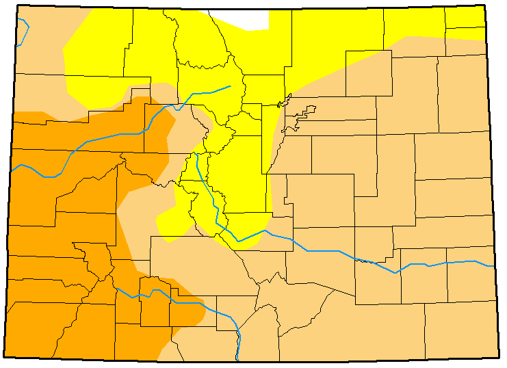 MAP Colorado Drought January 9, 2018
