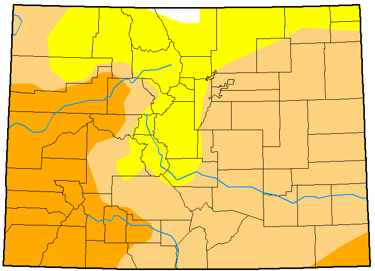 MAP Colorado Drought January 16, 2018