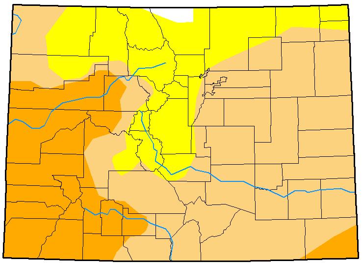 MAP Colorado Drought January 16, 2018