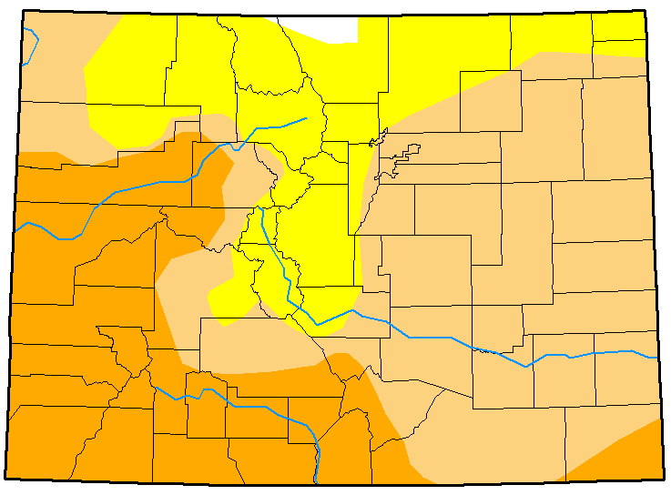 MAP Colorado Drought Conditions January 23, 2018