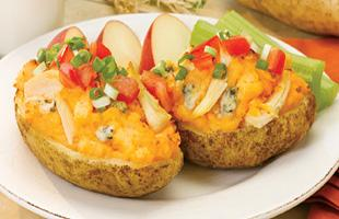 PICT Cooking at Home - Potato Skins with Buffalo Chicken