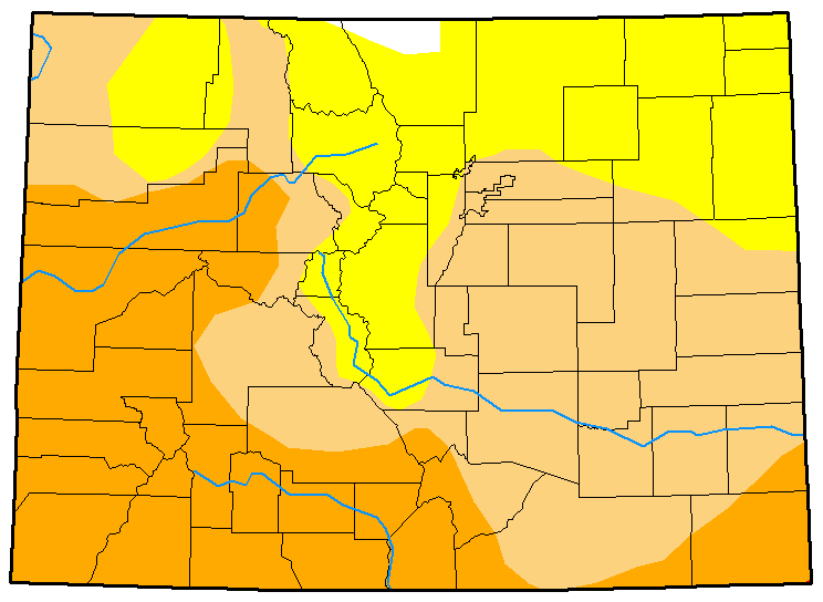 MAP Colorado Drought Conditions February 6, 2018