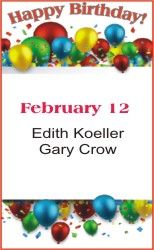 Happy Birthday to Koeller Crow