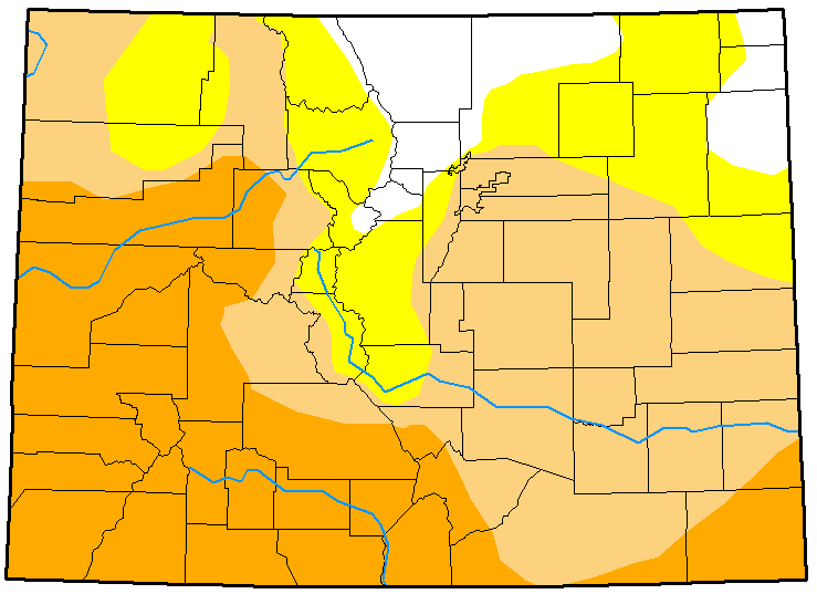 MAP Colorado Drought Conditions February 13, 2018