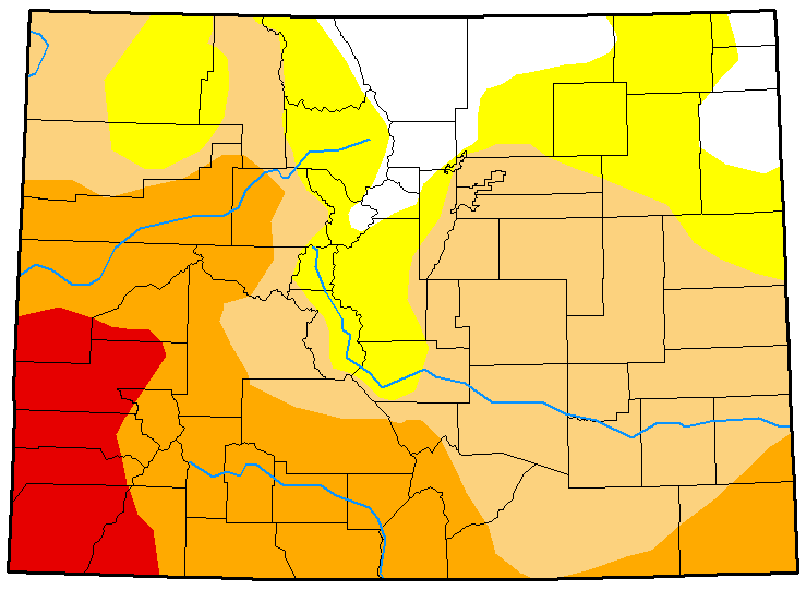MAP Colorado Drought Conditions February 20, 2018