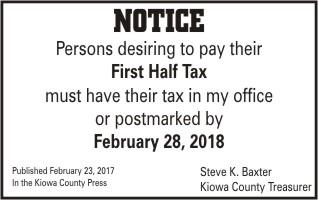 ADV - First Half Taxes Due - 2018
