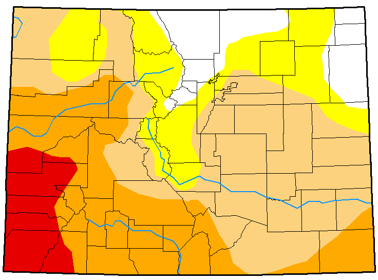 MAP Colorado Drought Conditions February 27, 2018