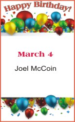 Happy Birthday to McCoin