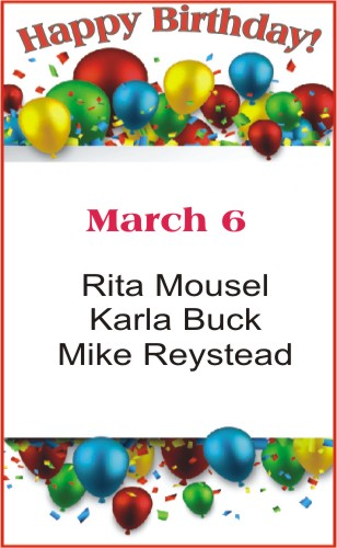 Happy Birthday to Mousel Buck Reystead