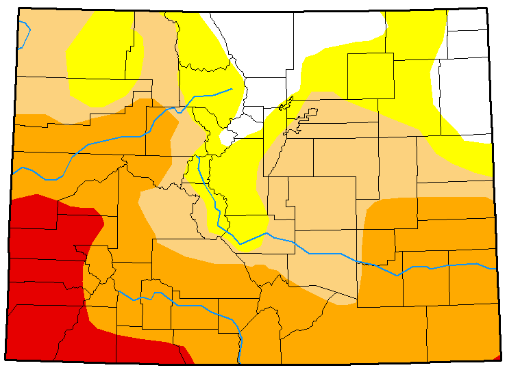 MAP Colorado Drought Conditions March 6, 2018