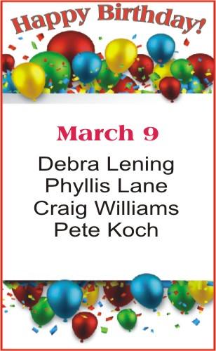 Happy Birthday to Lening Lane Williams Koch