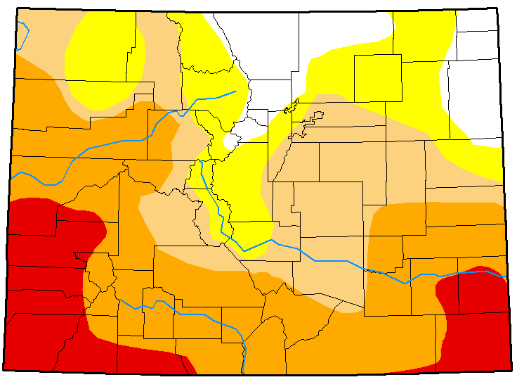 MAP Colorado Drought Conditions March 13, 2018
