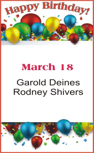 Happy Birthday to Deines Shivers
