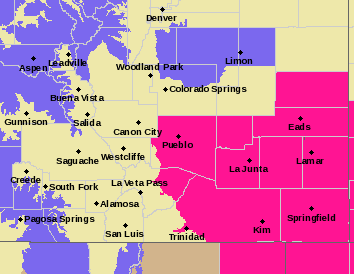 MAP Red Flag Warning - March 18, 2018