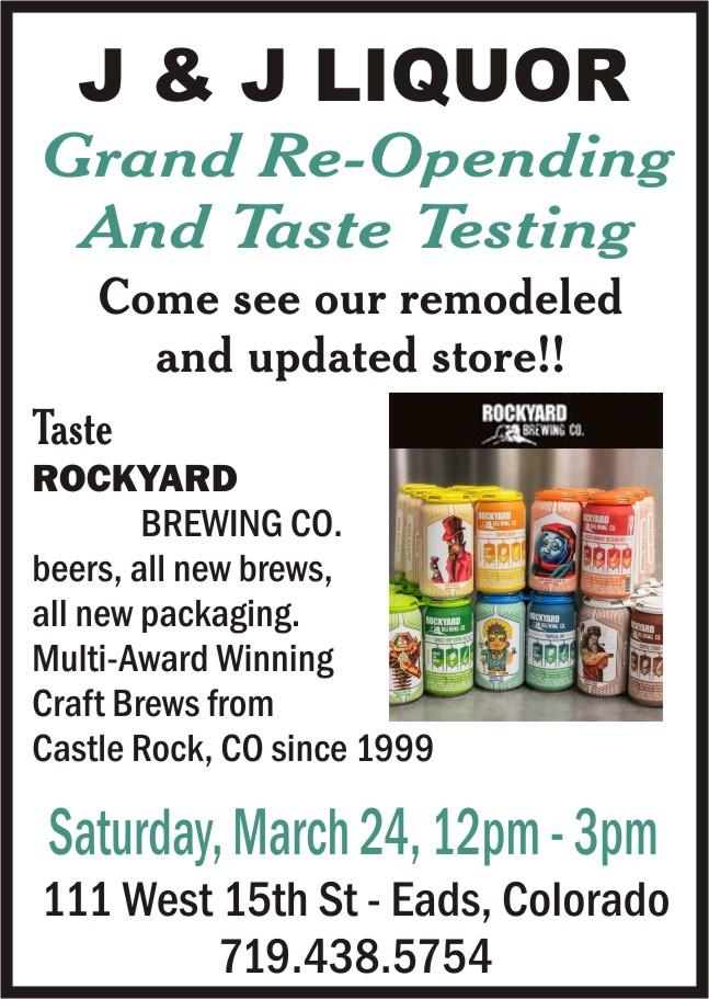 ADV - J&J Liquor Grand Re-Opening