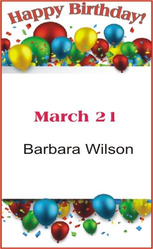 Happy Birthday to Wilson
