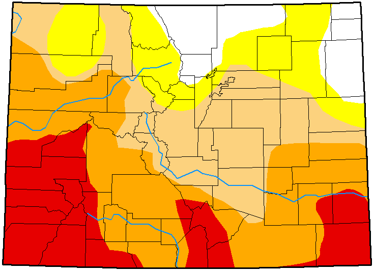 MAP Colorado Drought Conditions March 20, 2018