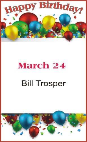 Happy Birthday to Trosper