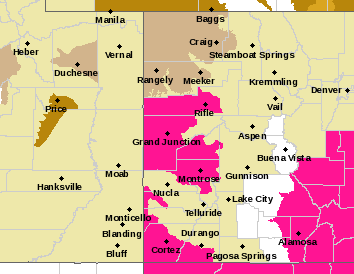 MAP Red Flag Warning West Slope April 2, 2018