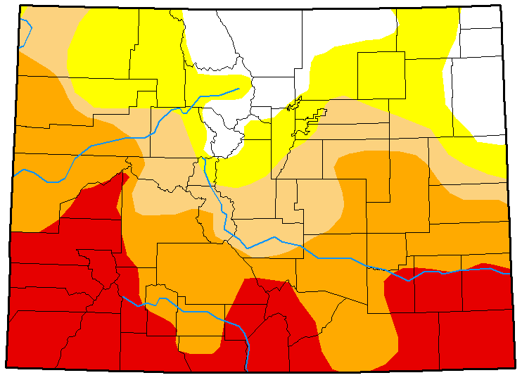 MAP Colorado Drought Conditions April 10, 2018
