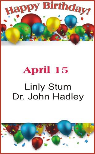 Happy Birthday to Stum Hadley