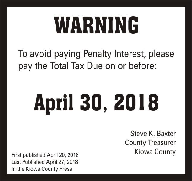 ADV - Tax Warning - 2018