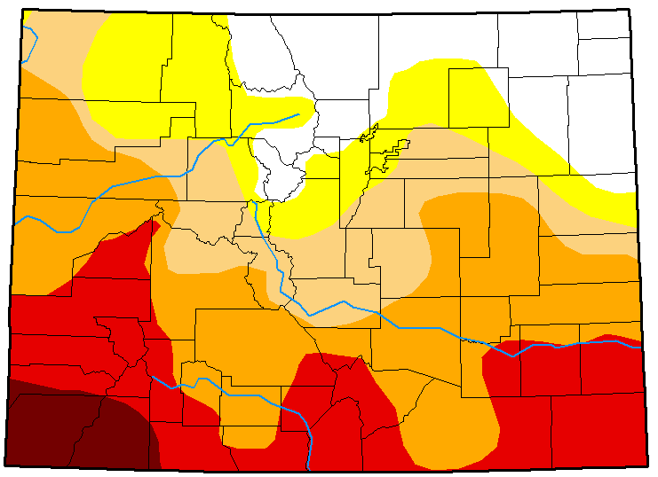MAP Colorado Drought Conditions April 17, 2018