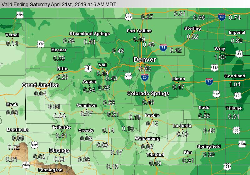MAP Expected Precipitation April 20, 2018