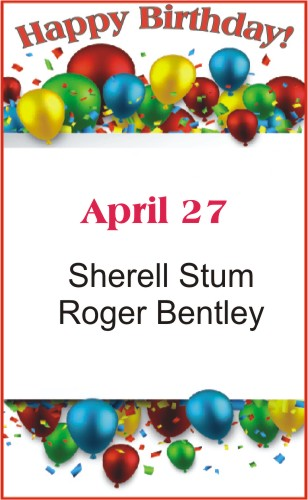 Happy Birthday to Stum Bentley